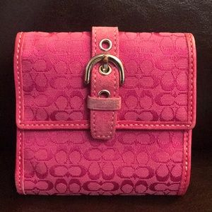 Authentic pink Coach signature wallet